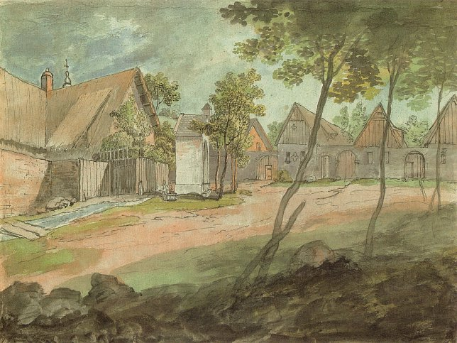 Sankt Georgen, Aquarell, 1825